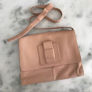 Nude Italian Leather Bag